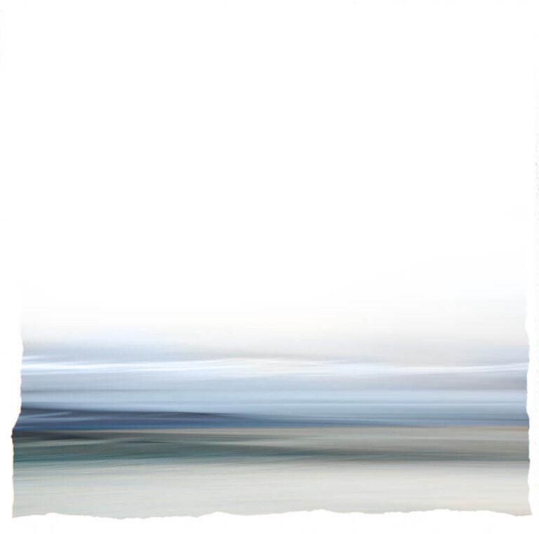 Afscheidskunst van impressionistische zeelandschap met een gevoel van verstilling en sereniteit.